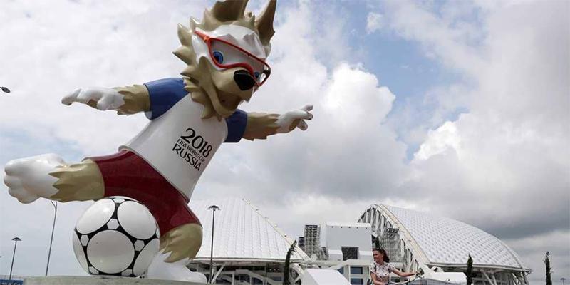 سرقة تمثال لـ''تميمة '' مونديال روسيا