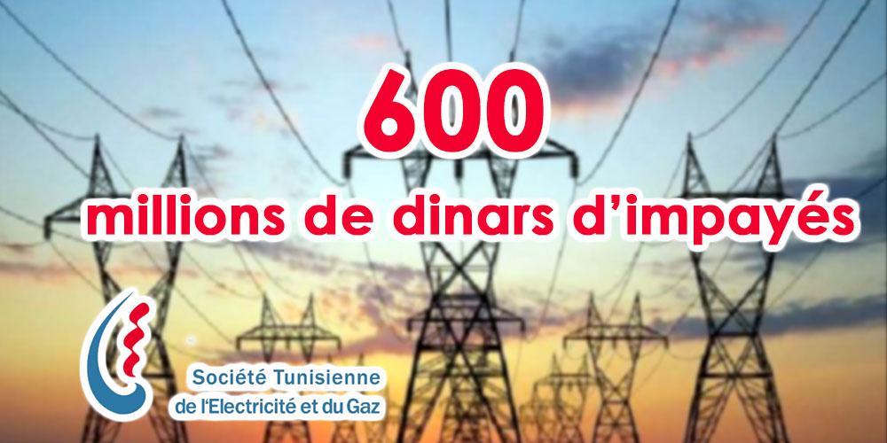 600 millions de dinars de factures impayées pour la STEG