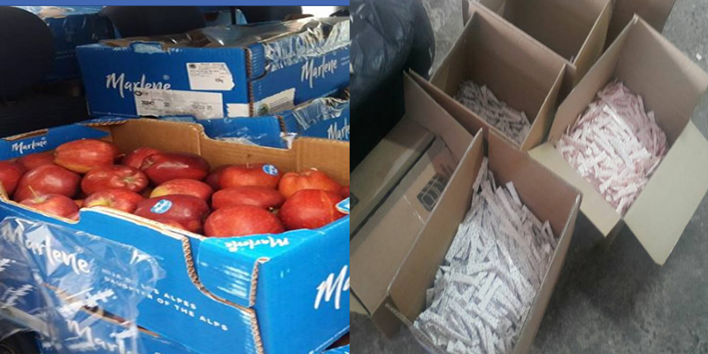 حجز كميات من التفاح المهرب وطنا من السكر المدعم في تونس ومنوبة