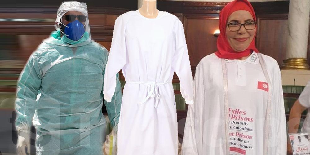 Cette députée crée le buzz avec sa ''sur-blouse médicale''