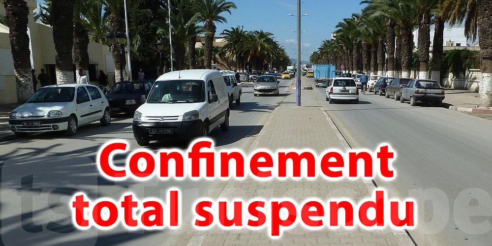 Confinement total suspendu à Jendouba
