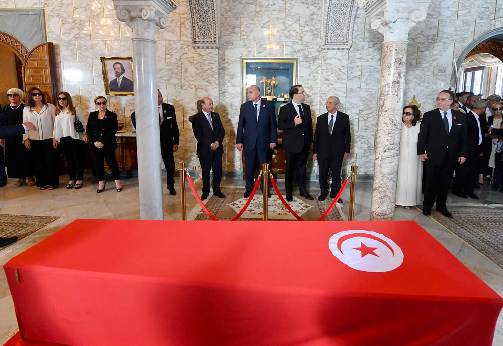 الصور الرسمية لموكب تأبين رئيس الجمهورية