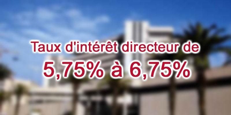 La BCT relève le taux d'intérêt directeur de 5,75% à 6,75%