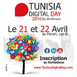 Programme de Tunisia Digital Day 2016 du 21 au 22 Avril au Forum, Lac II