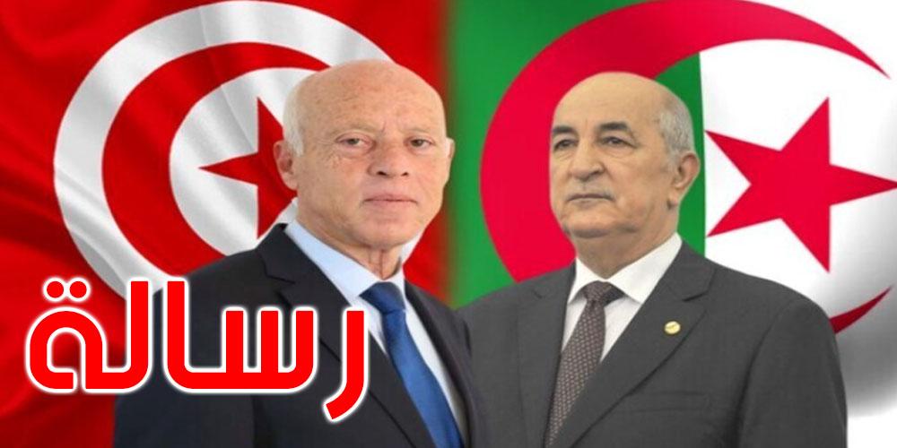 قيس سعيد يتلقى رسالة شفوية من الرئيس الجزائري عبد المجيد تبون