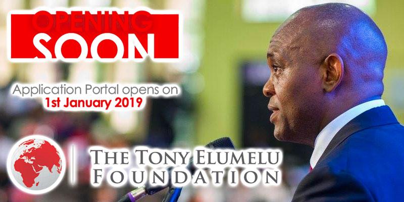 Lancement de l'édition 2019 du programme d'entrepreneuriat de la Fondation Tony Elumelu