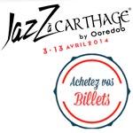 Les billets du Jazz à Carthage disponible dans les boutiques Tunisiana
