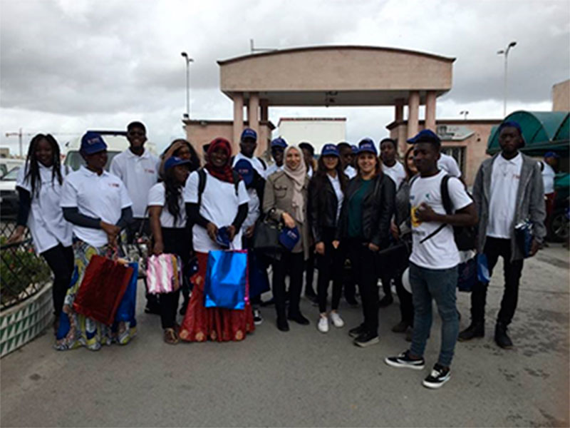 Les étudiants de TIME Université rendent visite aux enfants malades à l'hôpital des enfants de Bâb Saâdoun