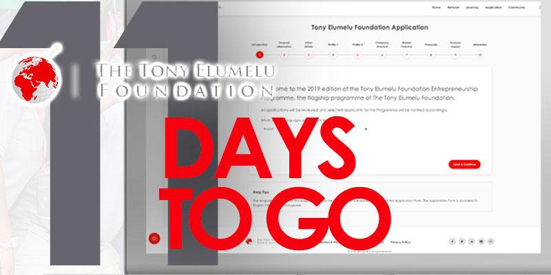 Encore quelques jours pour le programme d'entreprenariat de la Fondation Tony Elumelu<