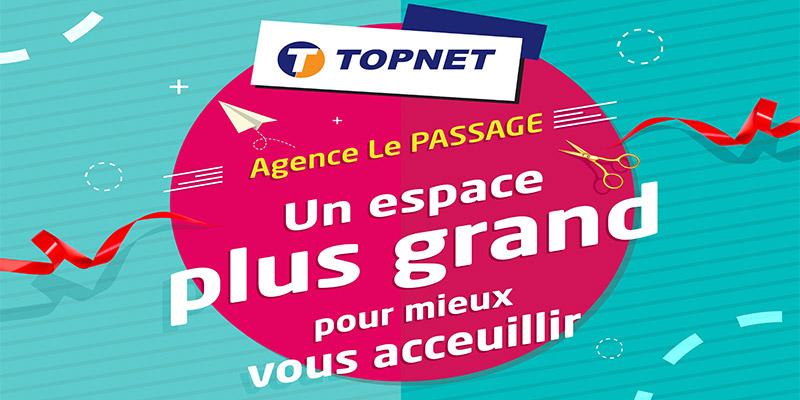 Réouverture de l'agence TOPNET Le Passage à Tunis
