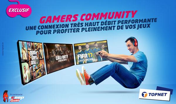 TOPNET lance « Gamers Arena » pour la création de son équipe e-sport et présente sa solution « Gamers Community »