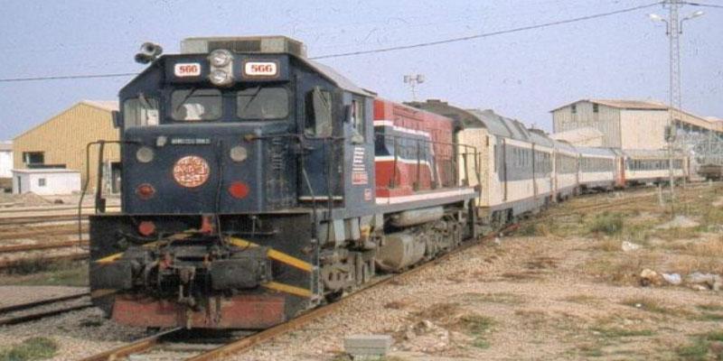 حذف عدد من سفرات القطار الرابط بين تونس والقلعة الخصبة بسبب ارتفاع منسوب المياه على السكة