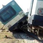 Accrochage de 2 trains TGM à la Goulette