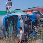 Accident entre un train et un tracteur à Bouficha