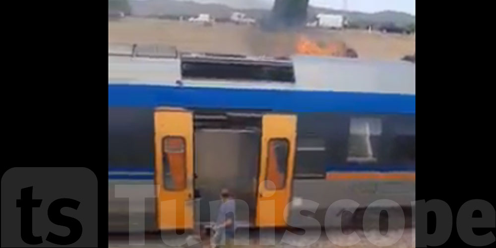 Le train de Dahmani prend feu en route