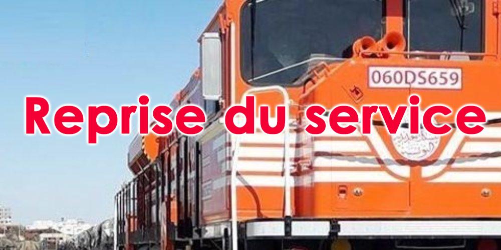 Le train transportant le phosphate reprend du service