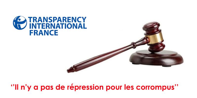 Transparency International : la Tunisie n'applique pas la loi