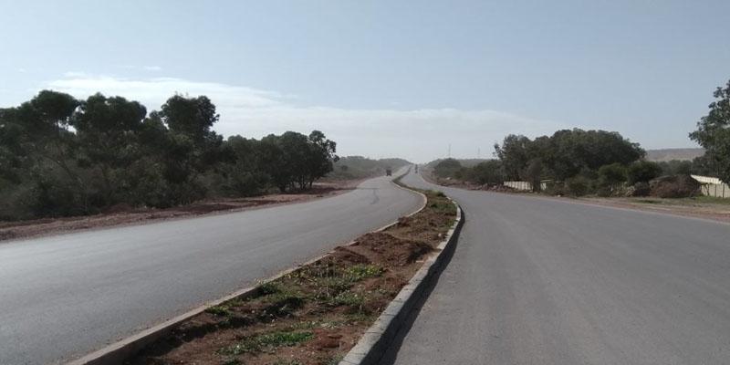 تقدم إنجاز مشروع مضاعفة الطريق الجهوية عدد 133 بين جبل الوسط وزغوان والحزامية بزغوان