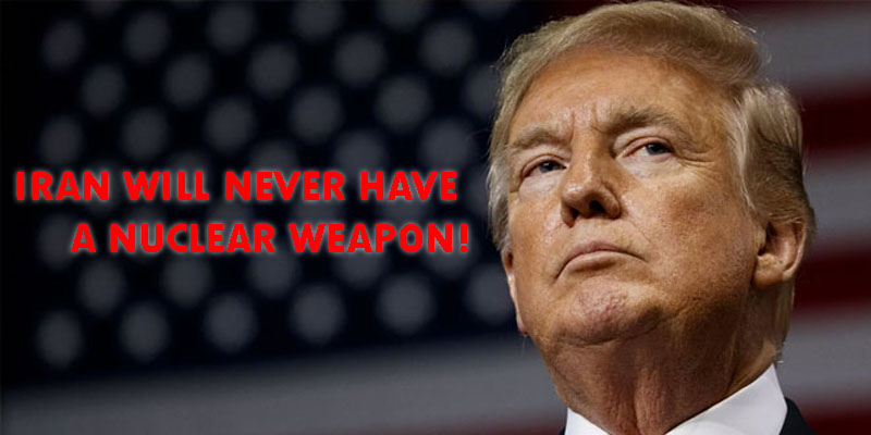 ''L'Iran n'aura jamais d'arme nucléaire'', prévient Trump