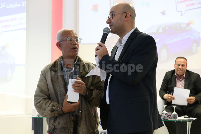 Les gangants de Champions Quizz de Tunisie Telecom