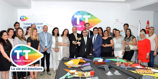 En vidéos : Tunisie Telecom fête son trophée Tunisia Brand Awards