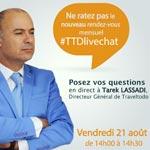 Le Directeur Général de Traveltodo vous donne rendez-vous demain à 14h pour un live chat