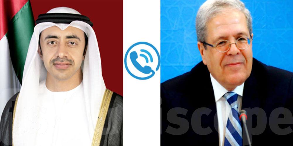 العلاقات التونسية الإماراتية محور مكالمة هاتفية بين وزير الشؤون الخارجية ونظيره الإماراتي