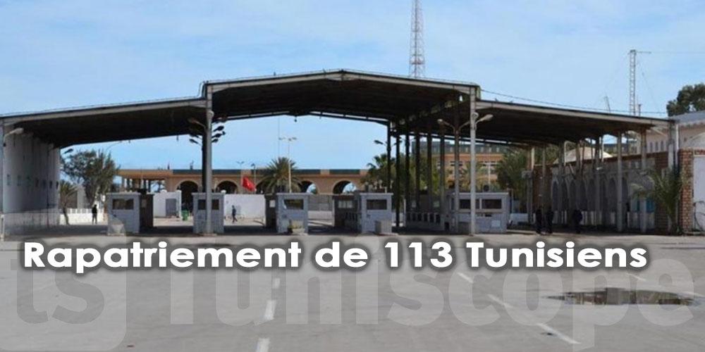 Rapatriement de 113 Tunisiens via Ras Jedir