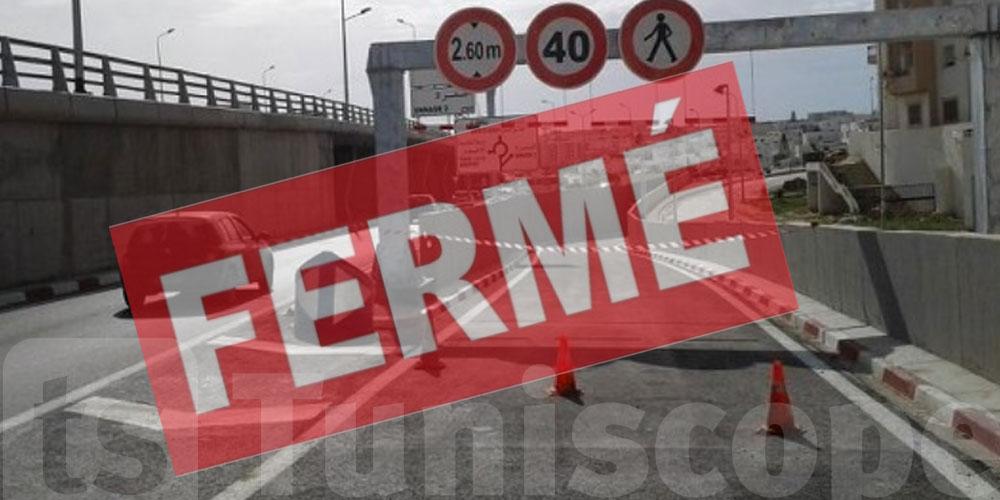 fermeture du tunnel en face de l'aéroport Tunis-Carthage