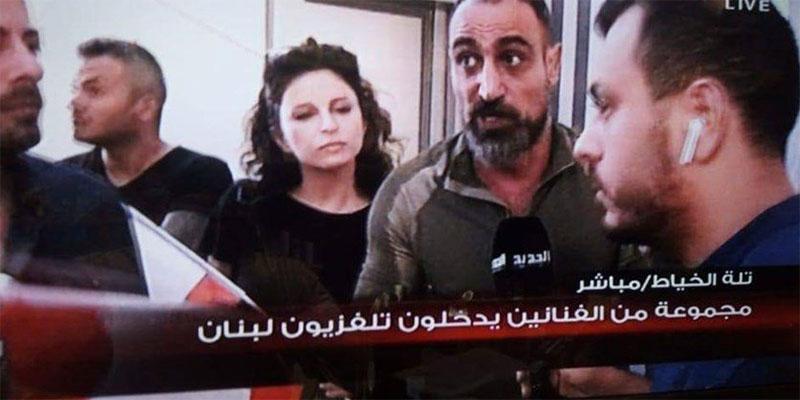 اقتحام مجموعة من الفنانين مبنى تلفزيون لبنان