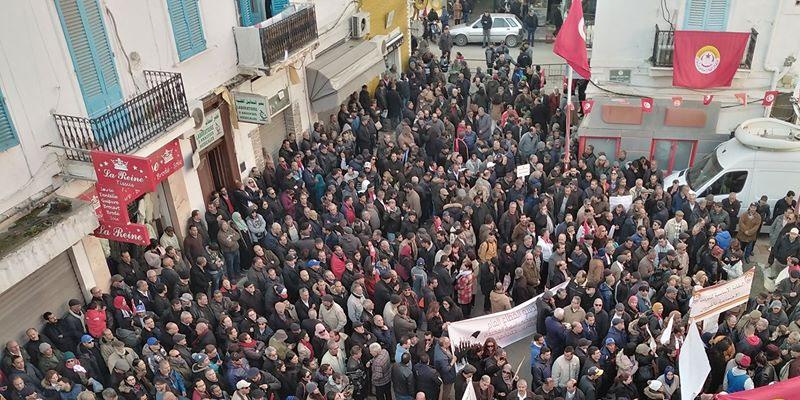 En photos : L'UGTT célèbre le 9e anniversaire de la Révolution