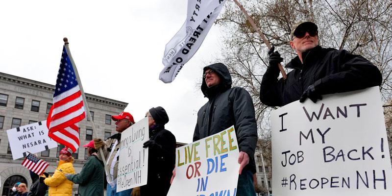 Encouragées par Trump, les manifestations anti-confinement se multiplient aux Etats-Unis