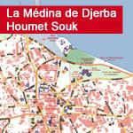Carte de la Médina de Djerba Houmet Souk