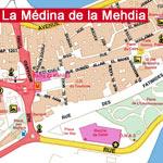 Carte de la Médina de la Mehdia