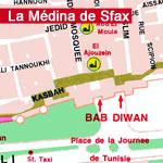 Carte de la Médina de Sfax