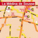 Carte de la Médina de Sousse