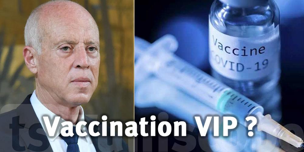 Kaïs Saïed contre la ''vaccination VIP'' ?