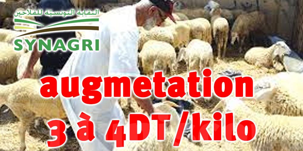 Syndicat Des agriculteurs : le prix du kilo de viande augmentera de 3 à 4 dinars