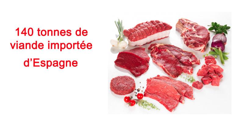 De la Viande bovine importée d'Espagne pour le Ramadan