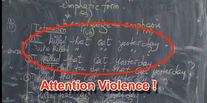 Photo du jour : Un cours d'anglais dépourvu d'humanité