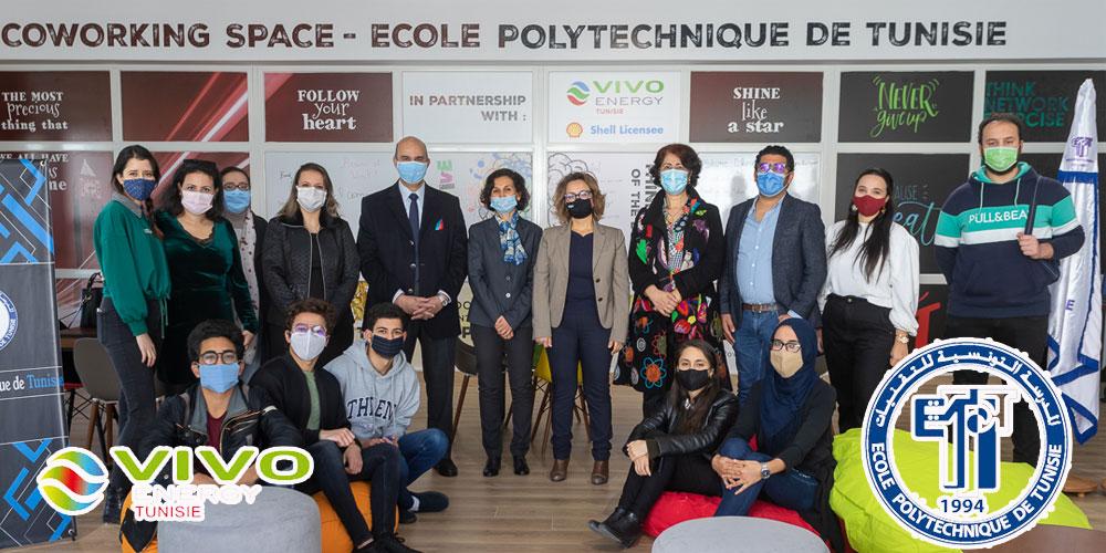Vivo Energy Tunisie et l'Ecole Polytechnique de Tunisie inaugurent le Premier Coworking Space fruit d'un partenariat Entreprise -Université