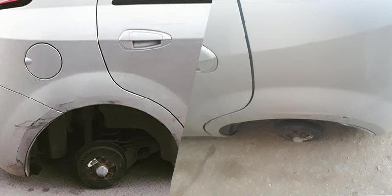 !بالصّور، حين تجد سيارتك دون عجلات أمام بيتك