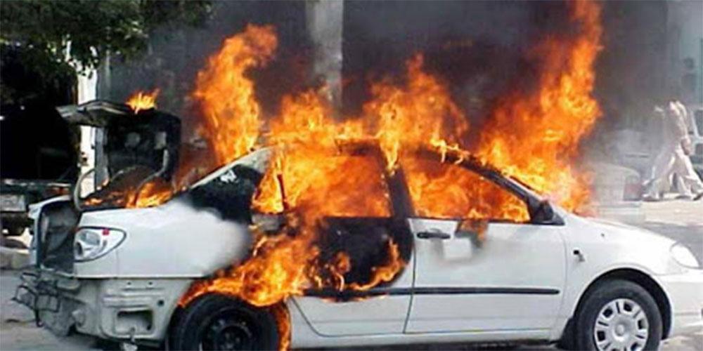 القبض على شاب أضرم النار  في سيّارة جاره