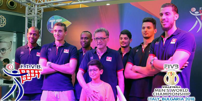 En vidéo : L'équipe nationale de Volleyball chez Tunisie Telecom