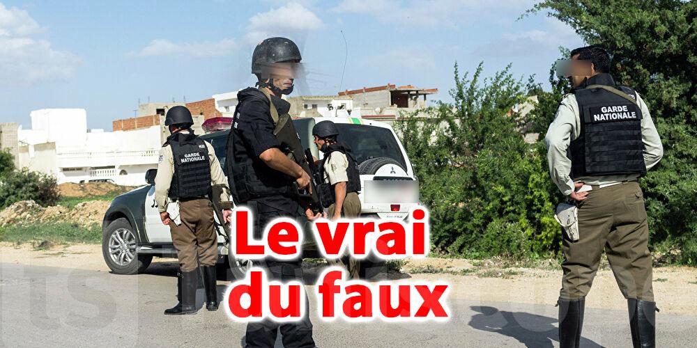 Un groupe terroriste encerclé à Moknine: Le vrai du faux