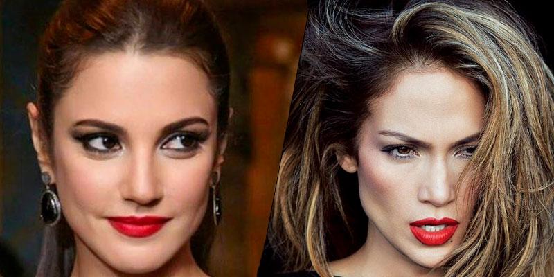 En photos : Dorra Zarrouk VS Jennifer Lopez...Qui porte le mieux la robe Reem Acra ?