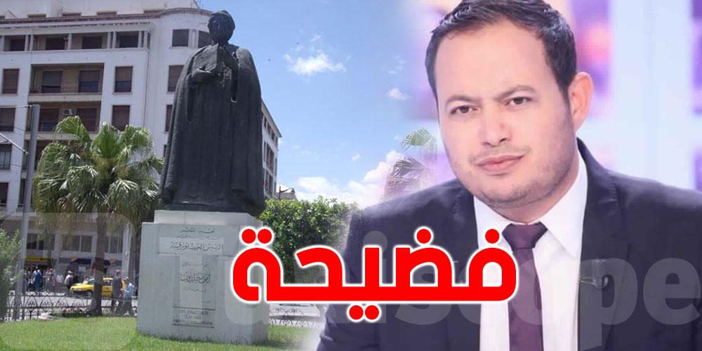 بالصور..سمير الوافي يكشف خطأ فادحا في تمثال إبن خلدون