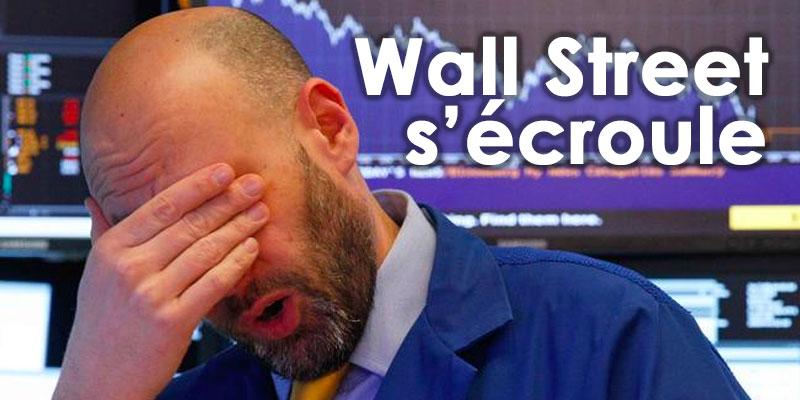 Wall Street s'écroule, les échanges suspendus