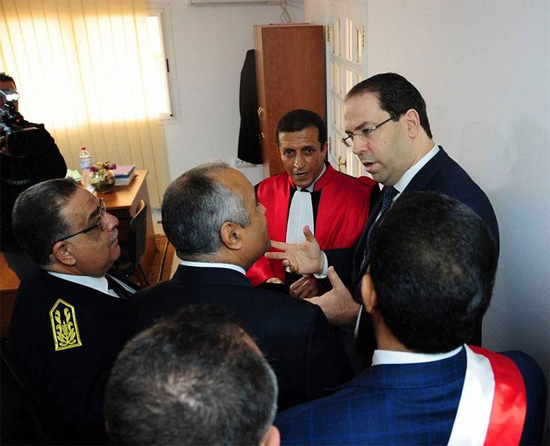 بالصّور : يوسف الشاهد في زيارة للمقرّ الجديد للمحكمةً الإدارية بسوسة