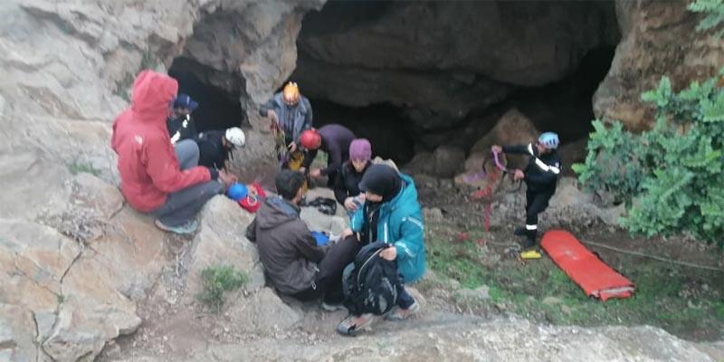 بالصور: سقوط فتاة داخل مغارة عمقها 20 مترا بزغوان
